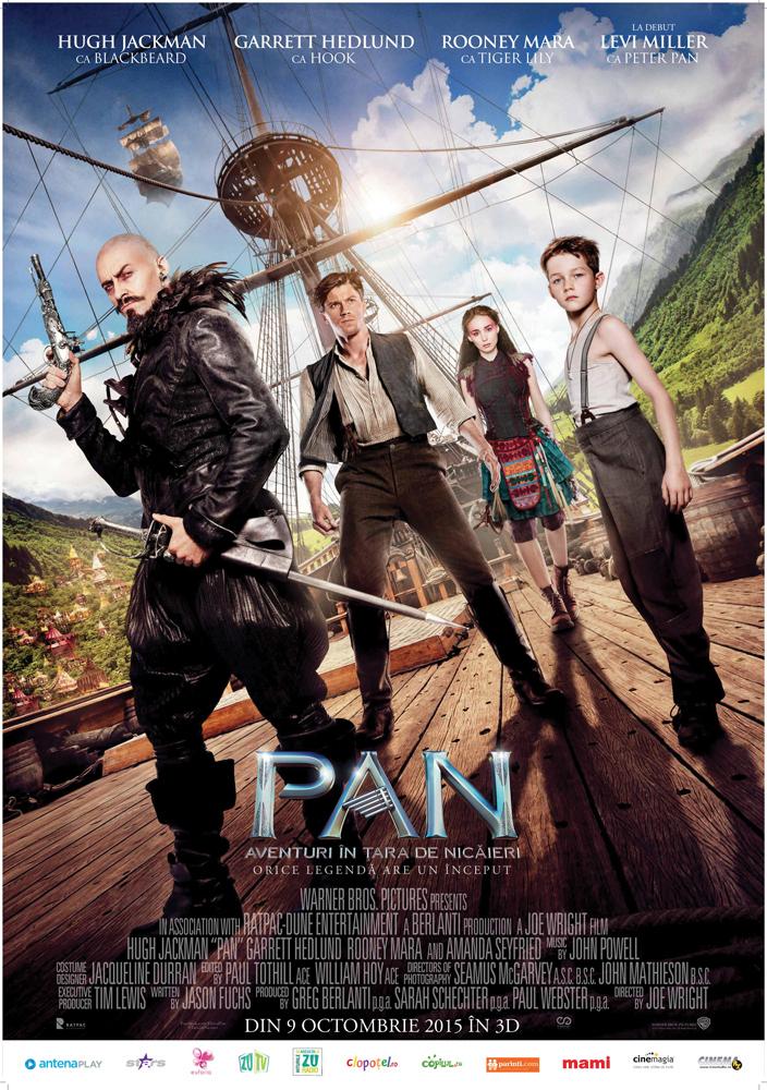 Pan: Aventuri in Tara de Nicaieri – 3D / Pan – 3D (Premiera)