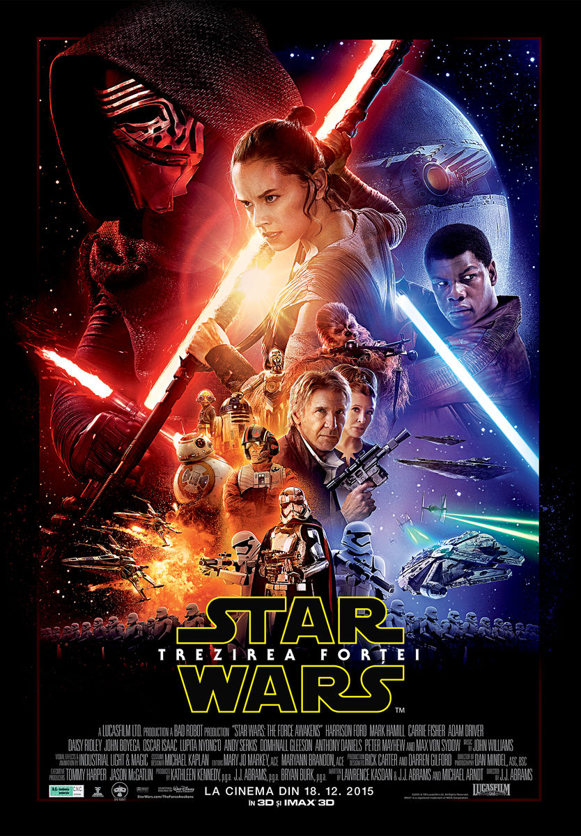 Star Wars: Trezirea Fortei – 3D / Star Wars: The Force Awakens – 3D (Premiera)