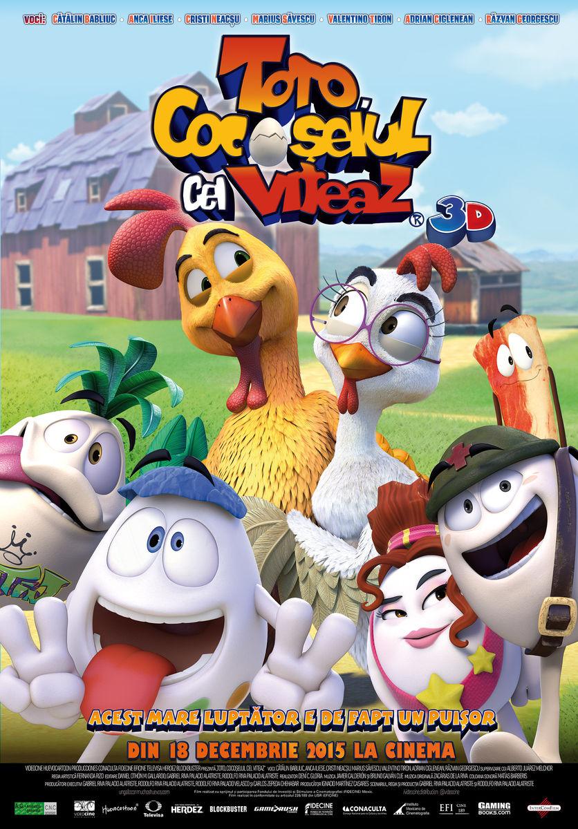 Toto, cocoselul cel viteaz – 3D Dublat / Un gallo con muchos huevos - 3D / Huevos: Little Rooster's Egg-cellent Adventure - 3D (Premiera)