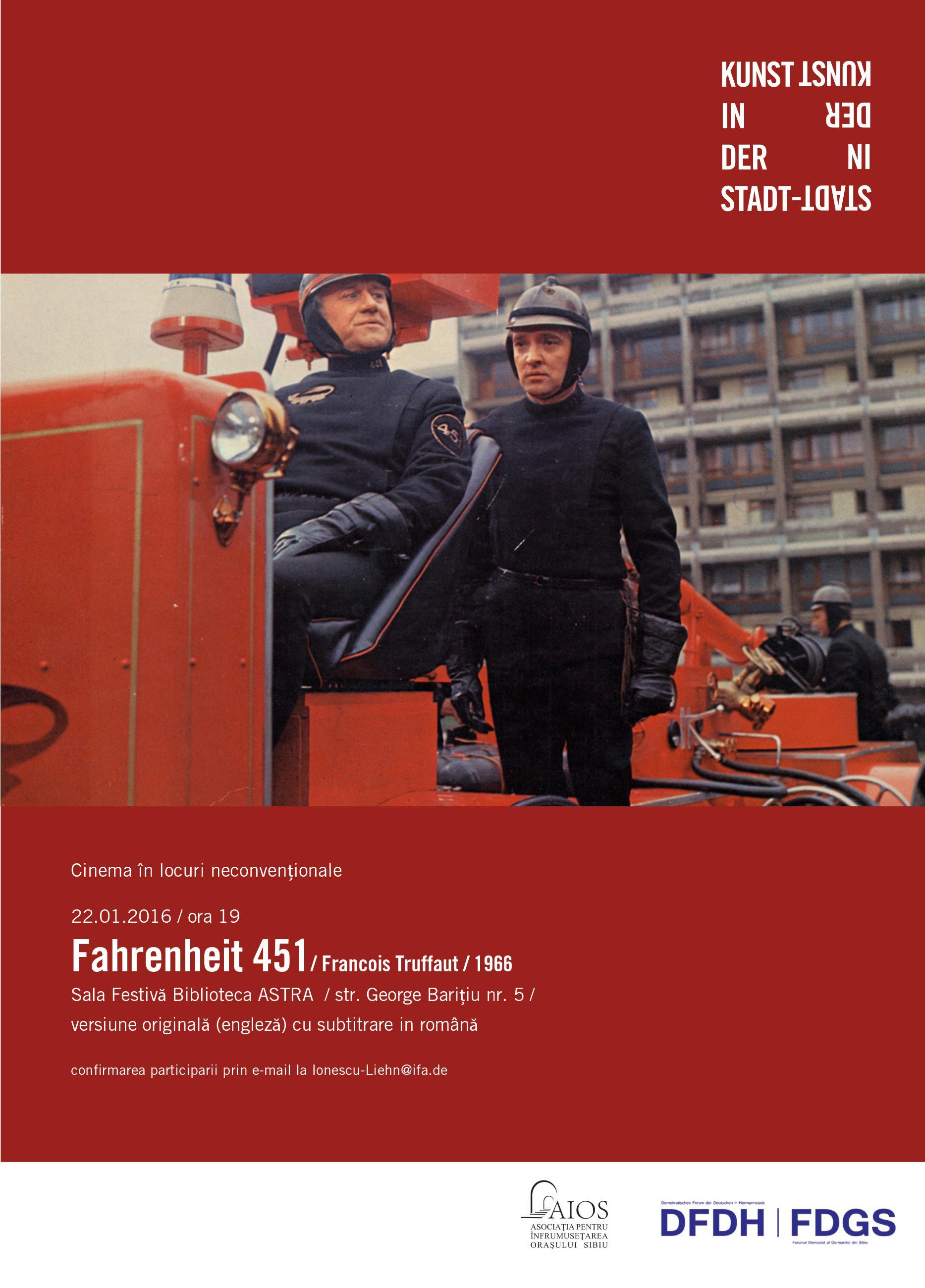 Fahrenheit 451 la Cinema în locuri neconvenţionale