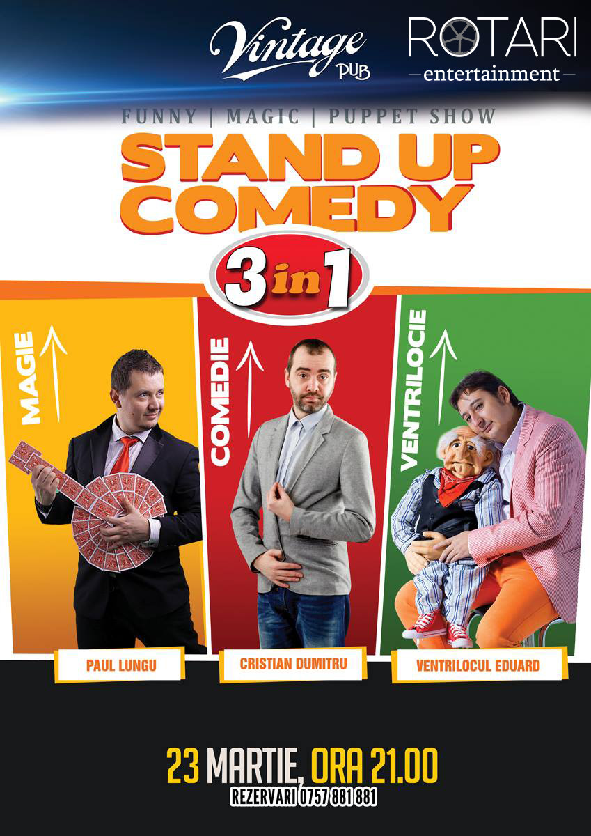 Stand-Up Comedy 3 in 1 @ Vintage Pub Sibiu