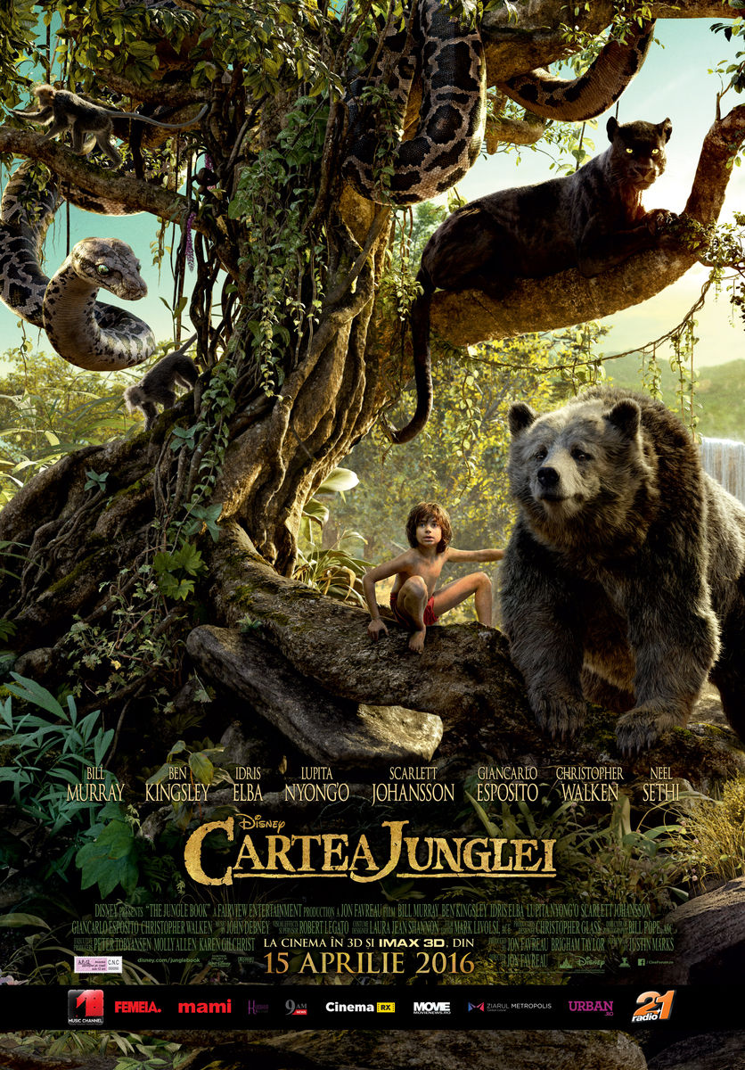 Cartea Junglei – 3D / The Jungle Book – 3D (Premiera)