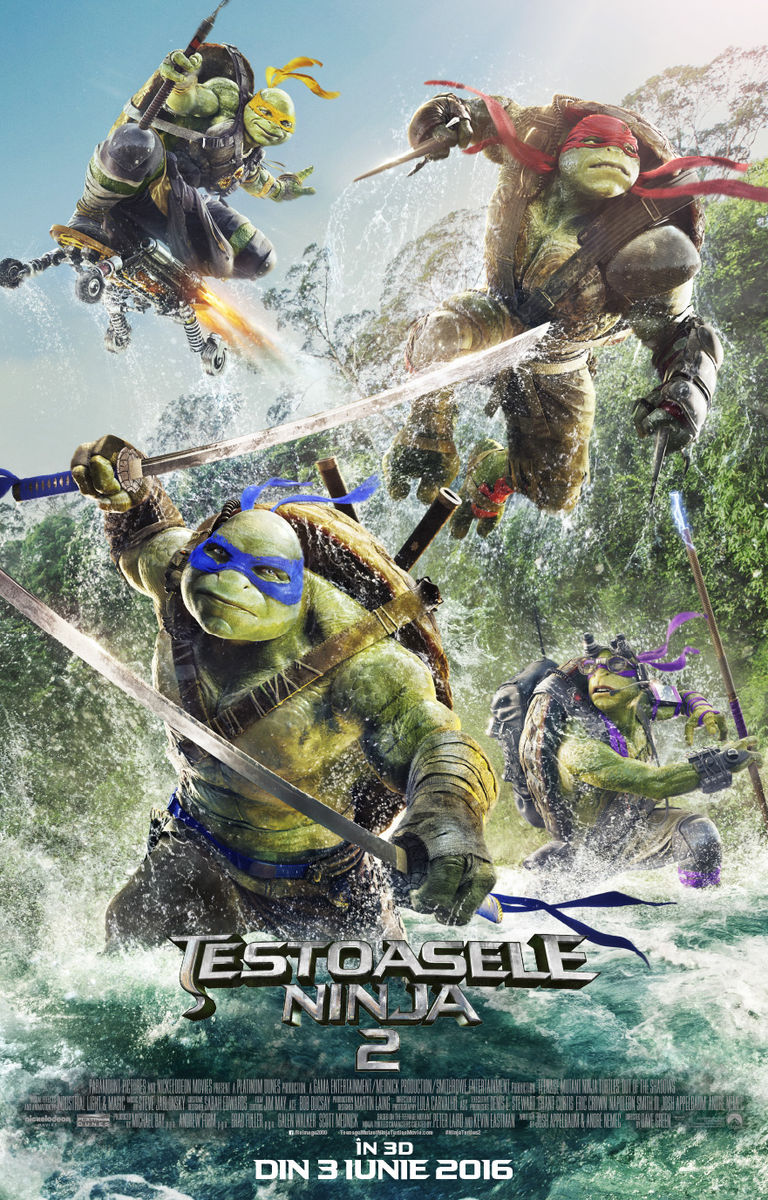 Testoasele Ninja 2 – 3D / Teenage Mutant Ninja Turtles: Out of the Shadows – 3D