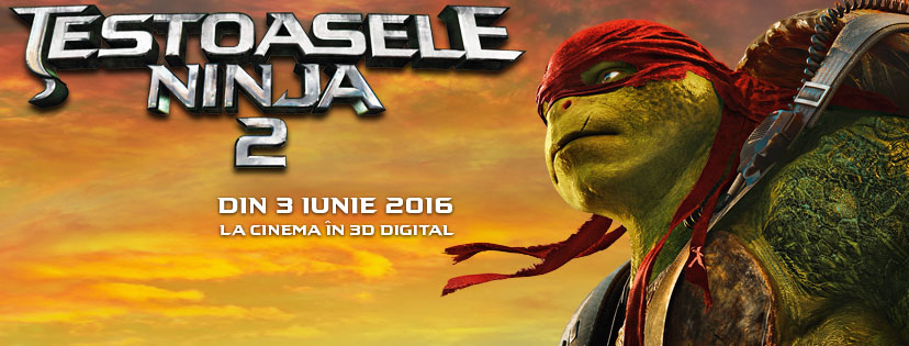 Testoasele Ninja 2 – 3D / Teenage Mutant Ninja Turtles: Out of the Shadows – 3D (Premiera)