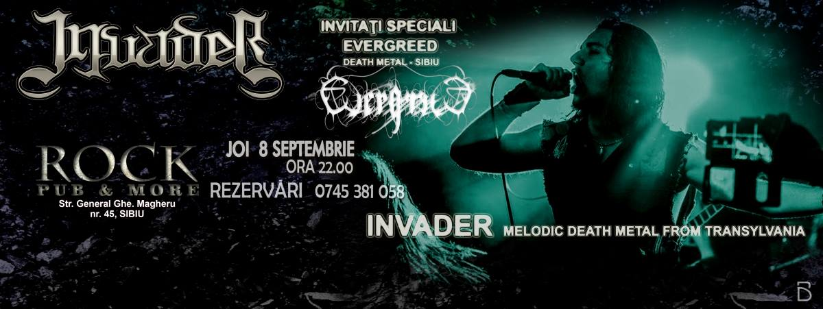 Concert Invader & EvergreeD - ROCK Pub&More SIBIU