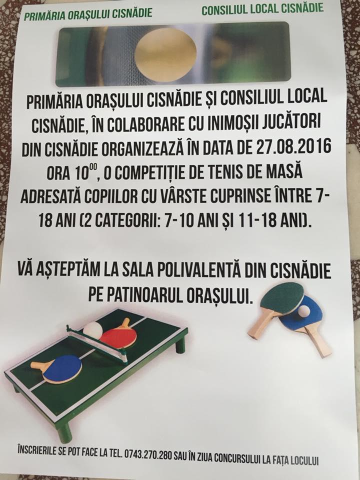 Concurs Tenis de masa