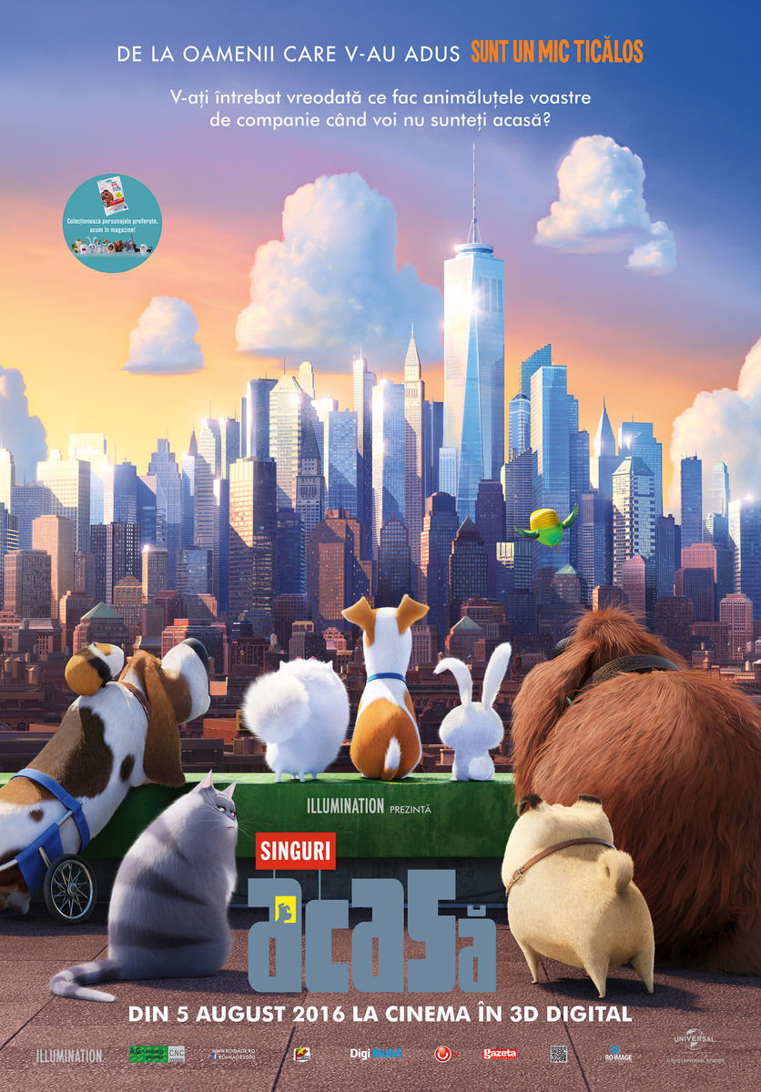Singuri acasa – 3D / The Secret Life of Pets – 3D (Premiera)