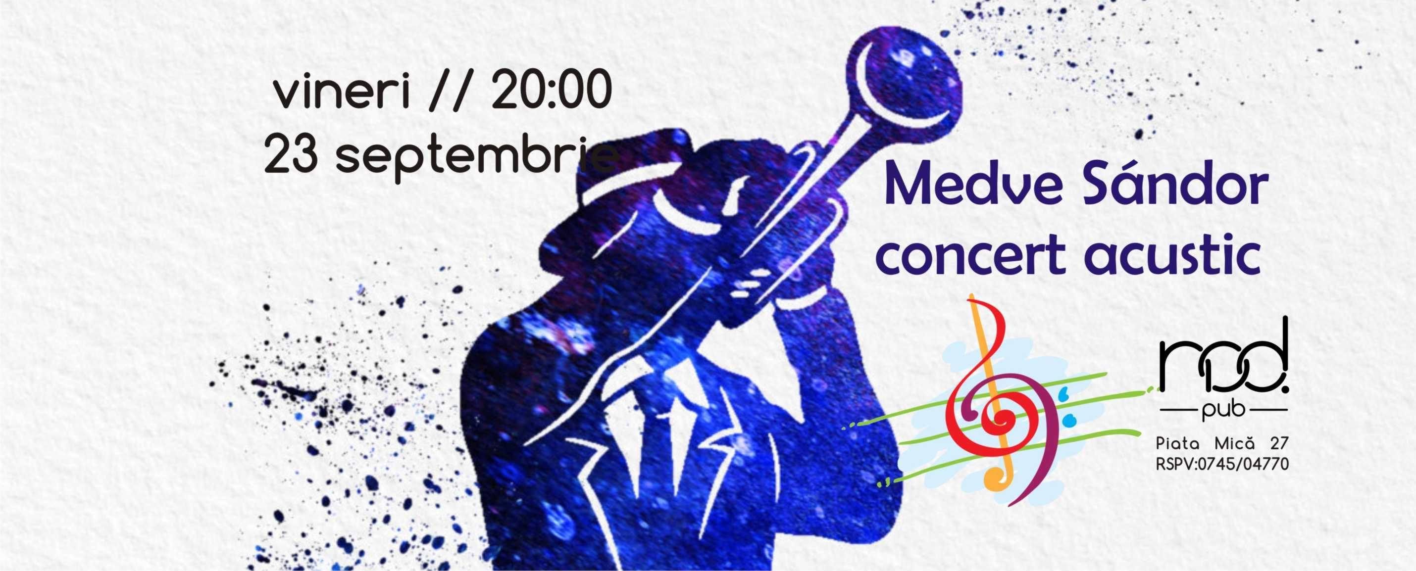 Concert acustic cu Medve Sandor **trumpet&loop**