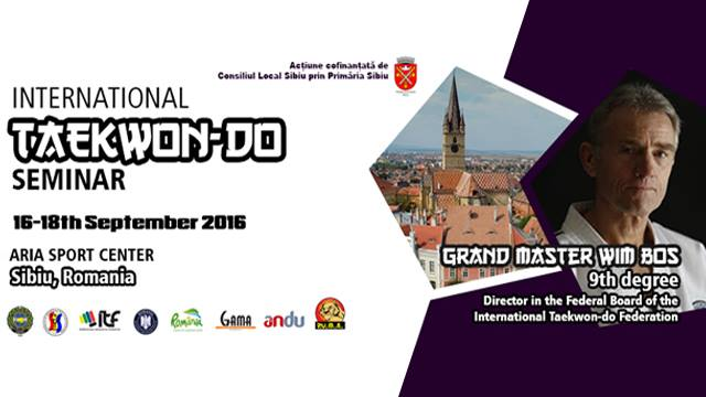 International Taekwon-do Seminar Sibiu 2016. GM Wim Bos