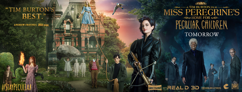Copiii domnisoarei Peregrine: Intre doua lumi – 3D / Miss Peregrine's Home for Peculiar Children – 3D (Premiera)