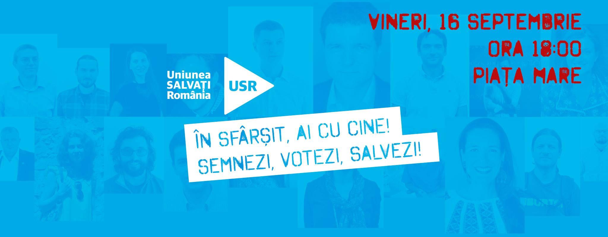 Semnături pentru Uniunea Salvați România (Sibiu)