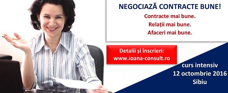 Curs de negocierea și întocmirea contractelor