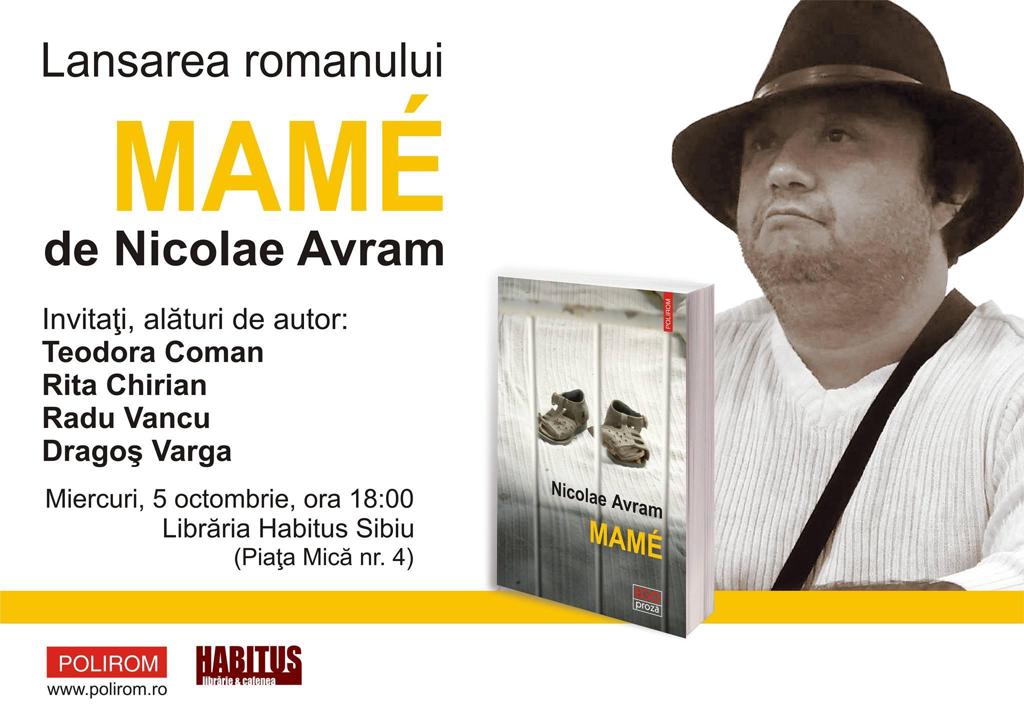 Lansare de carte: Mamé de Nicolae Avram