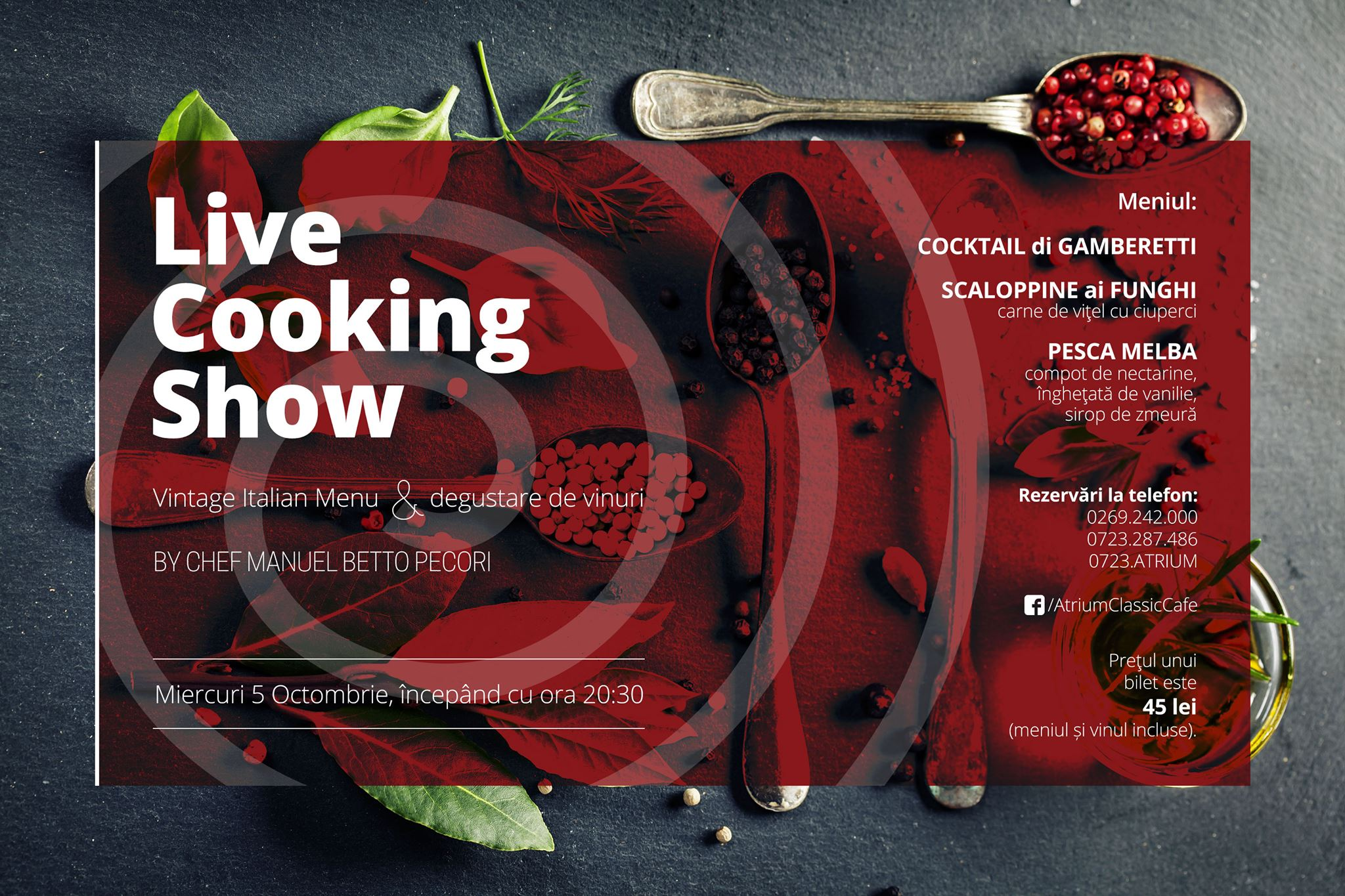 Live Cooking Show - Vintage Italian Menu