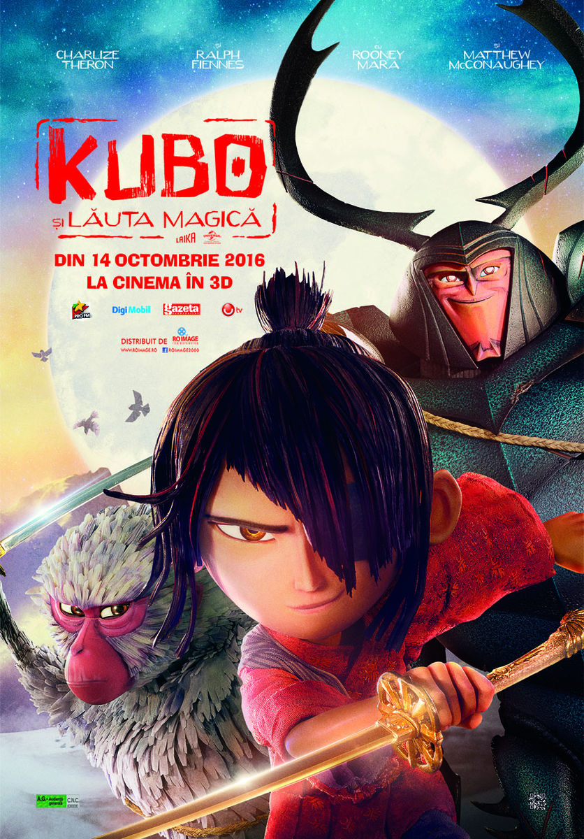 Kubo si Lauta Magica – 3D Dublat / Kubo and the Two Strings – 3D (Premiera)