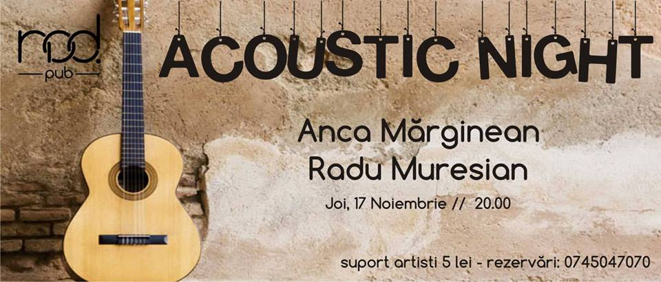 Acoustic Night cu Anca&Radu
