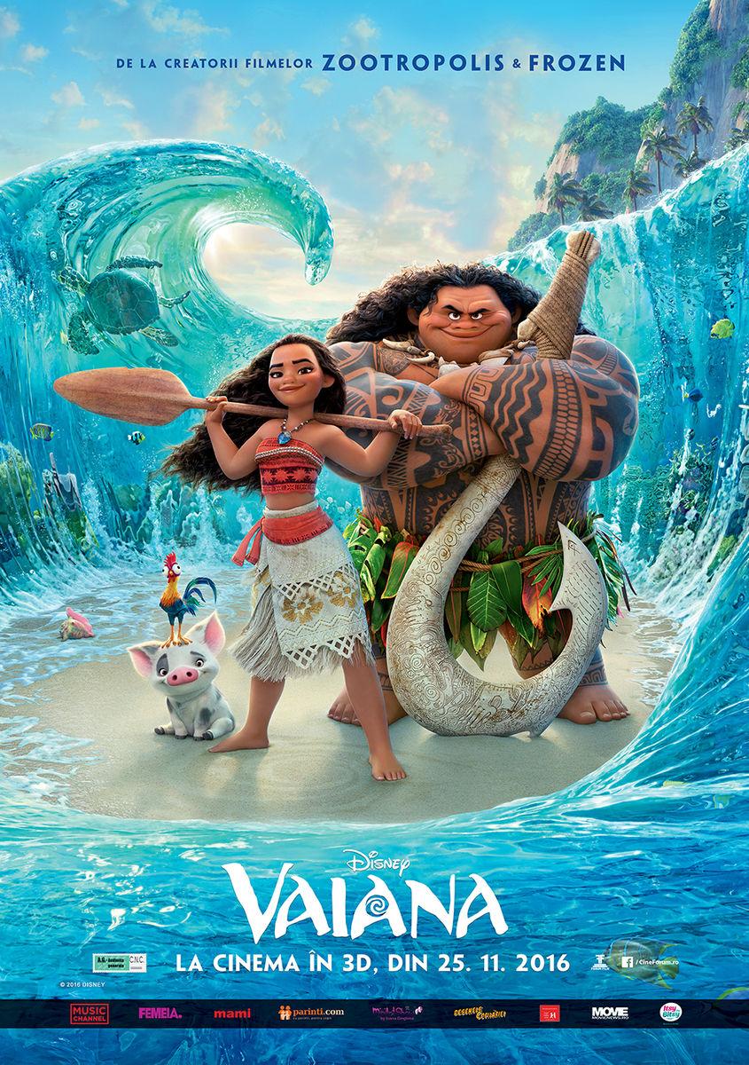 Vaiana – 3D Dublat / Moana 3D (Premiera)