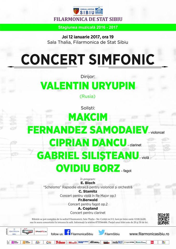 Concert cu soliști din Orchestra Filarmonicii de Stat Sibiu