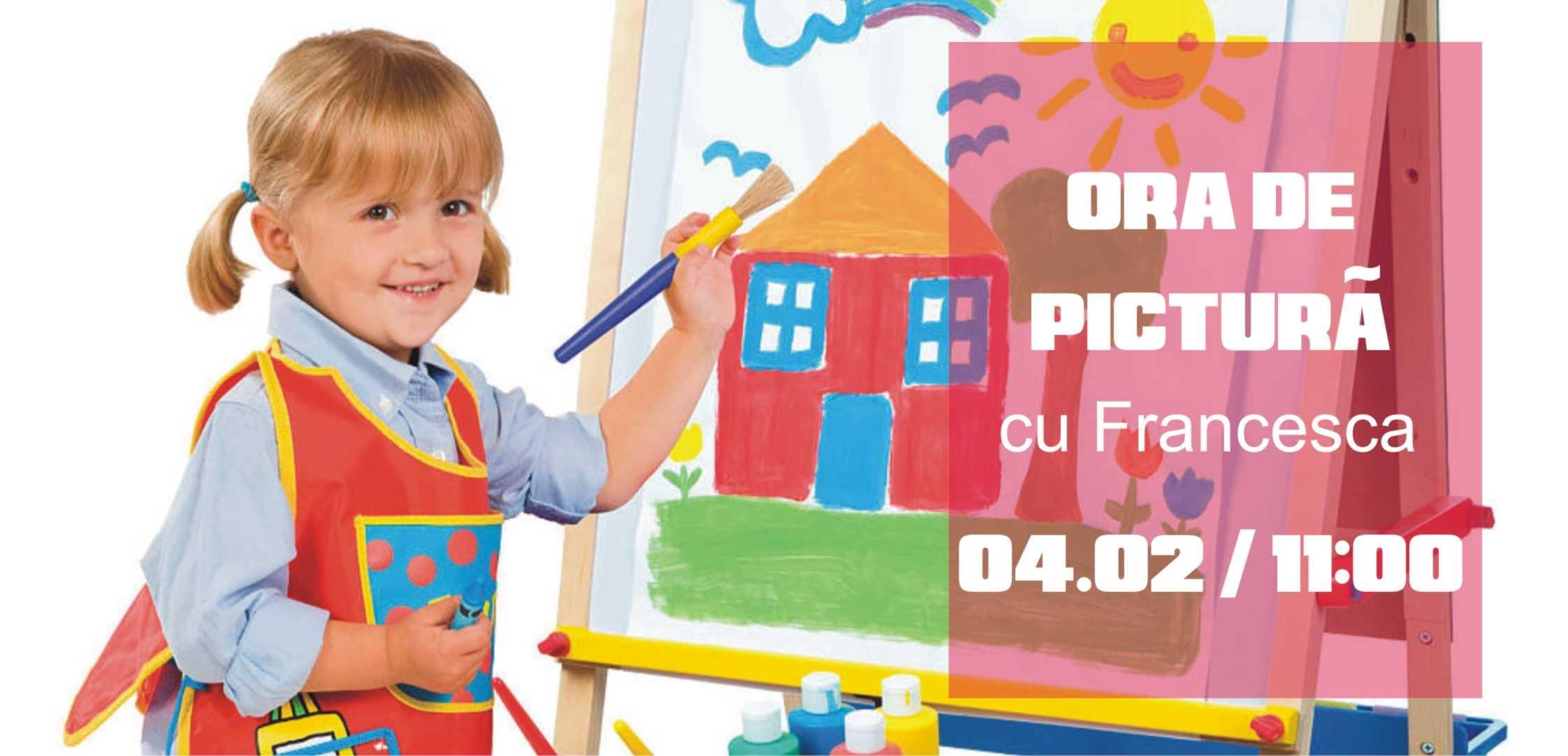 Ora de pictură, cu Francesca