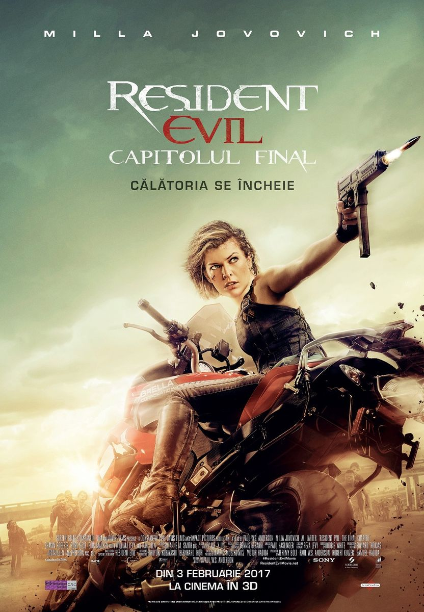 Resident Evil: The Final Chapter – 3D / Resident Evil: Capitolul Final – 3D (Avanpremiera)