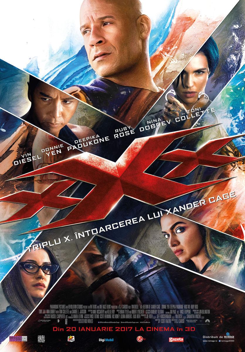 Triplu X: Intoarcerea lui Xander Cage – 3D / XXX: Return of Xander Cage – 3D (Premiera)