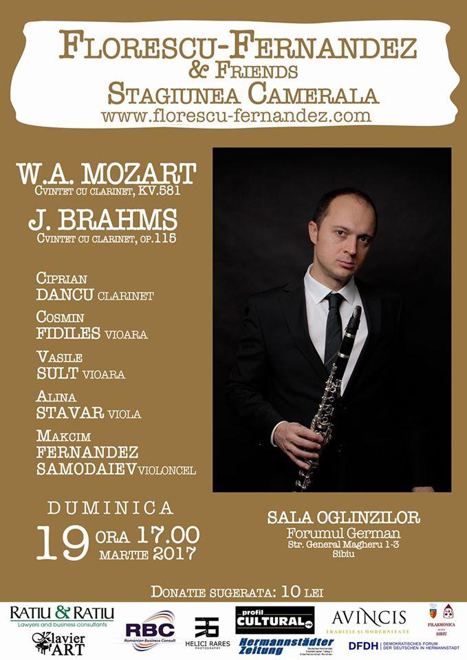Cvintetele pentru clarinet de Mozart si Brahms