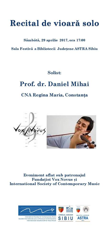 Recital de vioară - Daniel Mihai