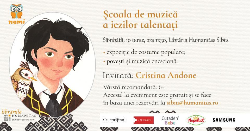 Atelier & jocuri muzicale cu Cristina Andone și Editura Nemi