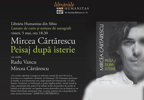 Eveniment Mircea Cărtărescu la Librăria Humanitas din Sibiu