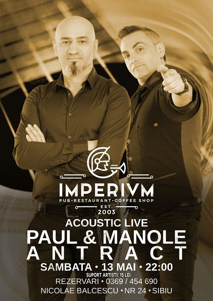 Paul & Manole - Antract - Acoustic Live