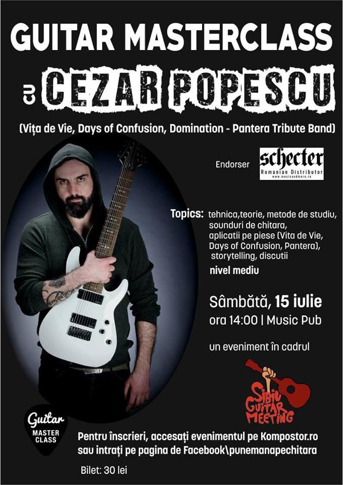 Guitar Masterclass cu Cezar Popescu