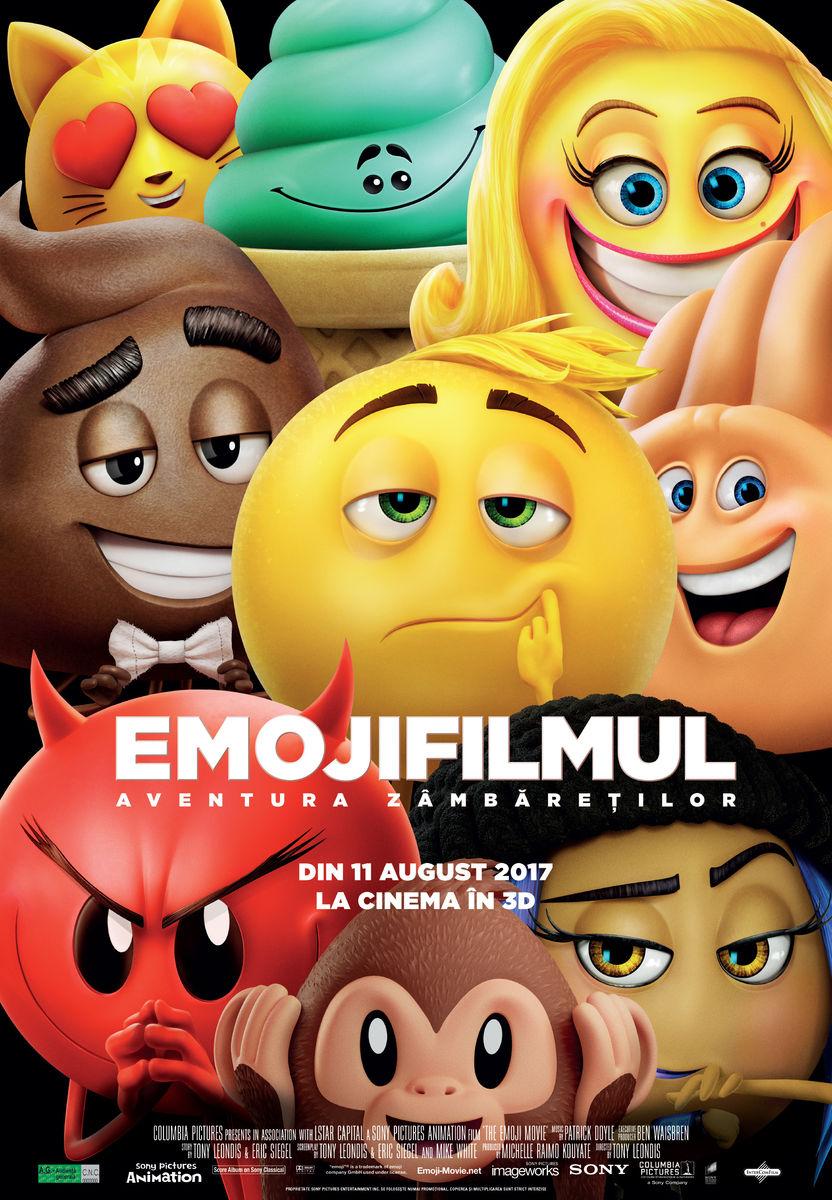 Emoji Filmul: Aventura zâmbăreţilor – 3D Dublat / The Emoji Movie (Premieră)