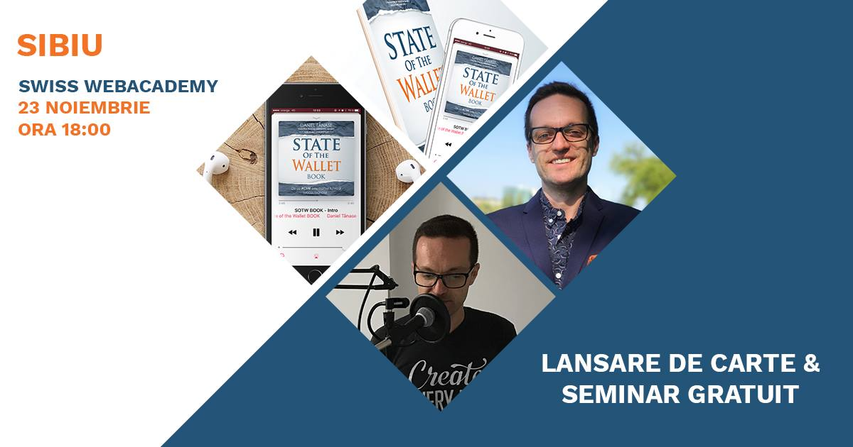 Seminar Gratuit & Lansare de Carte - State of the Wallet BOOK