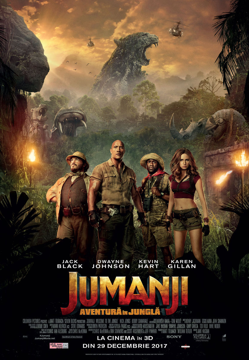 Jumanji: Aventură în junglă – 3D / Jumanji: Welcome to the Jungle (Premieră)