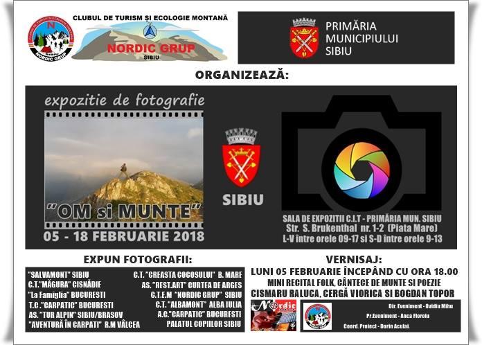"""Expoziție de Fotografie """"Om și Munte"""" Sibiu."""