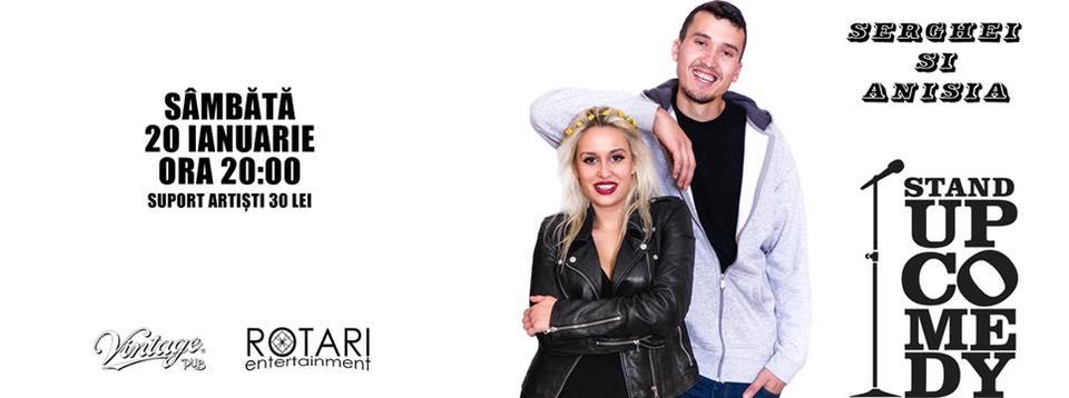 Stand up comedy cu Serghei si Anisia