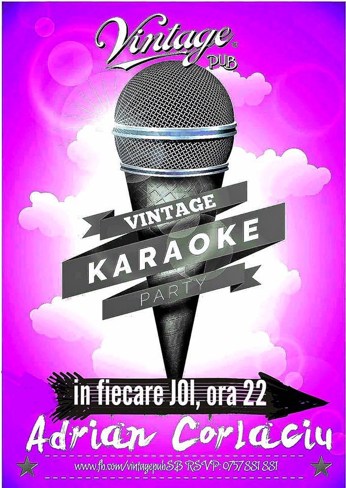 Vintage Karaoke Party cu Adrian Corlaciu