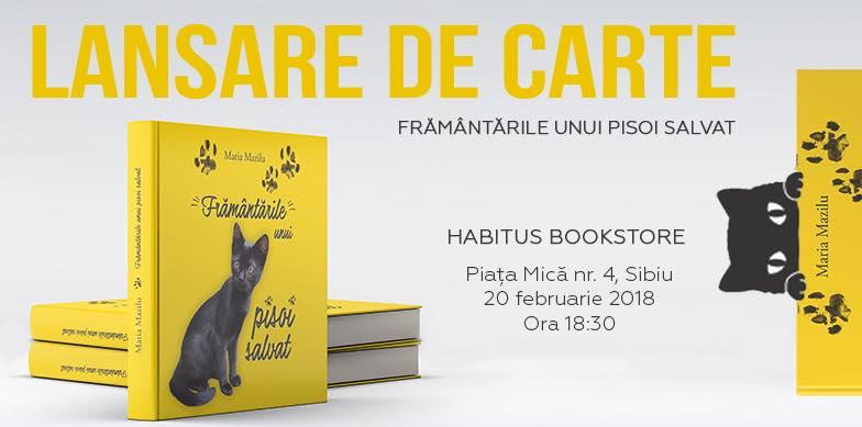Framantarile unui pisoi salvat- Lansare de carte - Sibiu