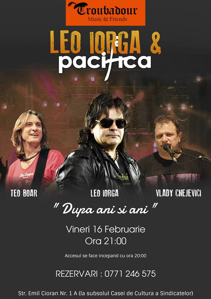 """LEO IORGA & PACIFICA ~ """"După ani și ani..."""""""