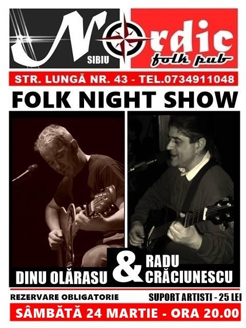 Dinu Olărașu și Radu Crăciunescu - Folk Night Show.