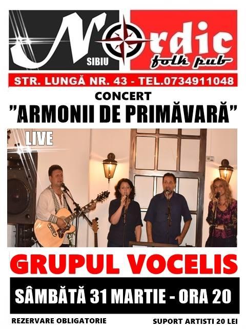 """Concert """"Armonii de Primăvară"""" - Grupul Vocelis"""