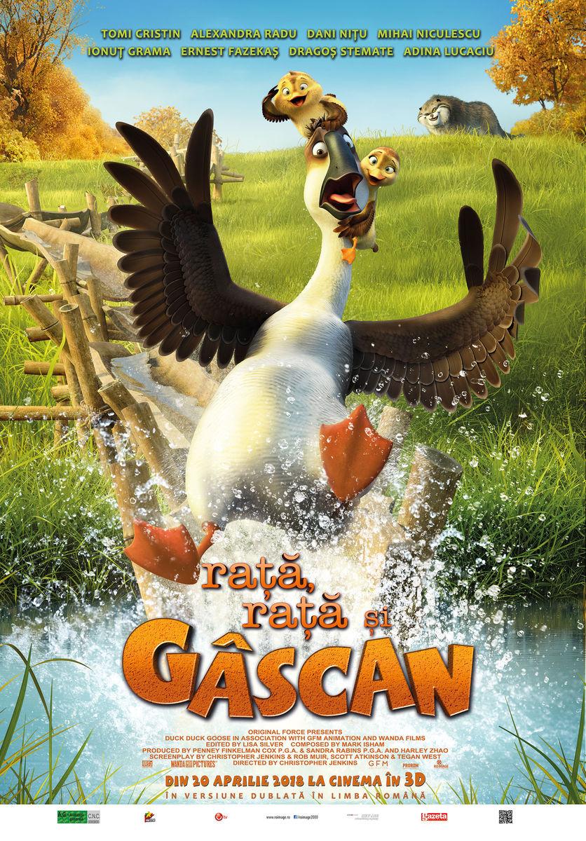 Raţă, raţă şi Gâscan – 3D Dublat / Duck, Duck, Goose (Premieră)
