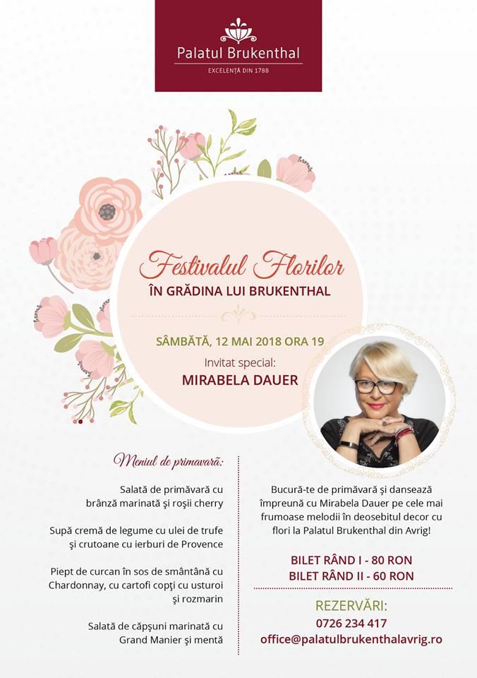 Festivalul Florilor în Grădina lui Brukenthal - Mirabela Dauer