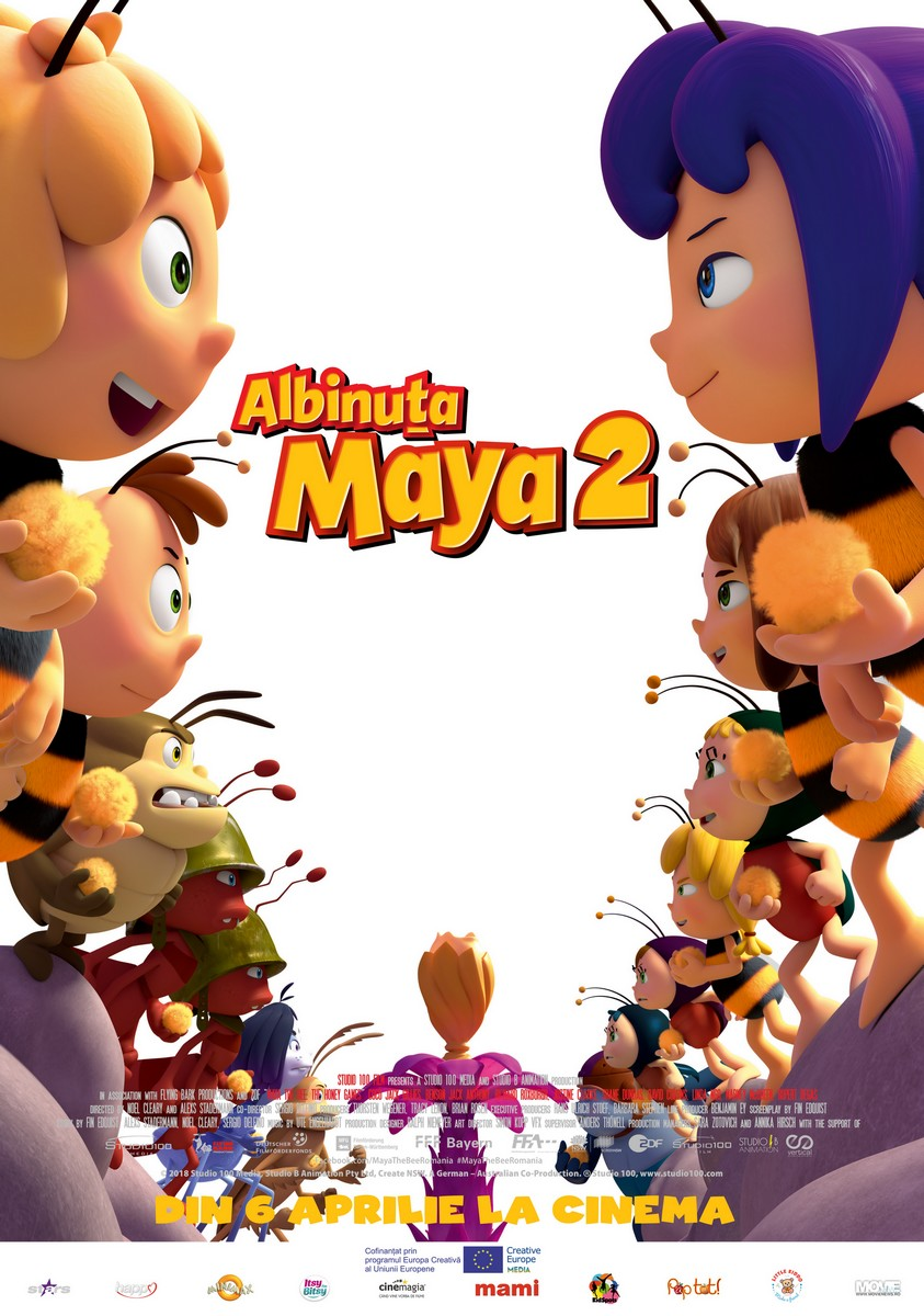Albinuţa Maya 2 – 3D Dublat / Maya The Bee 2: The Honey Games (Premieră)