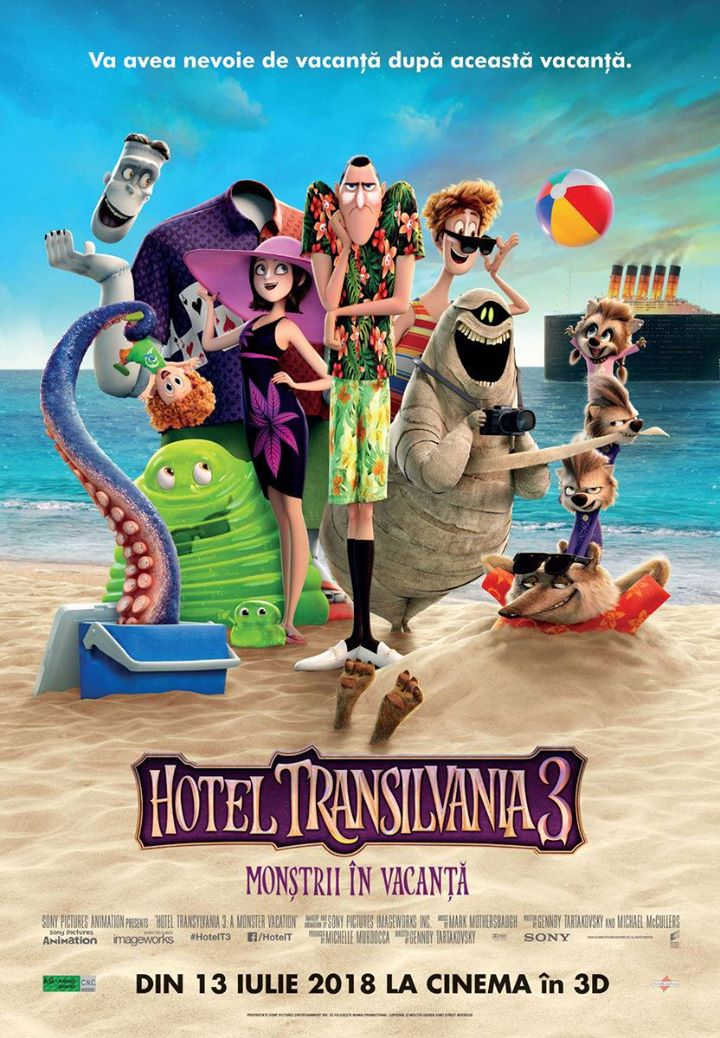 Hotel Transylvania 3: A Monster Vacation   (Hotel Transilvania  3: Monştrii în Vacanţă) -  3D Dublat RO