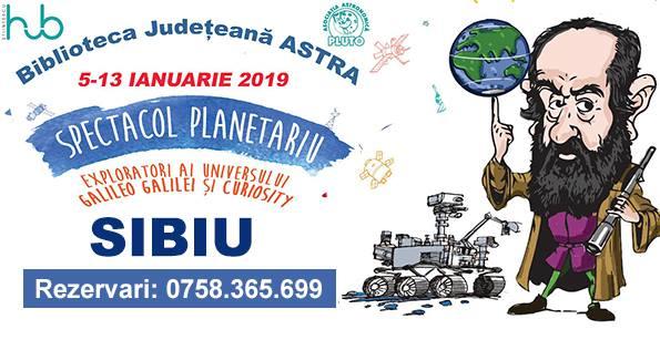 Robotul Curiosity și Galileo Galilei vin la Sibiu - Planetariului Mobil Educațional