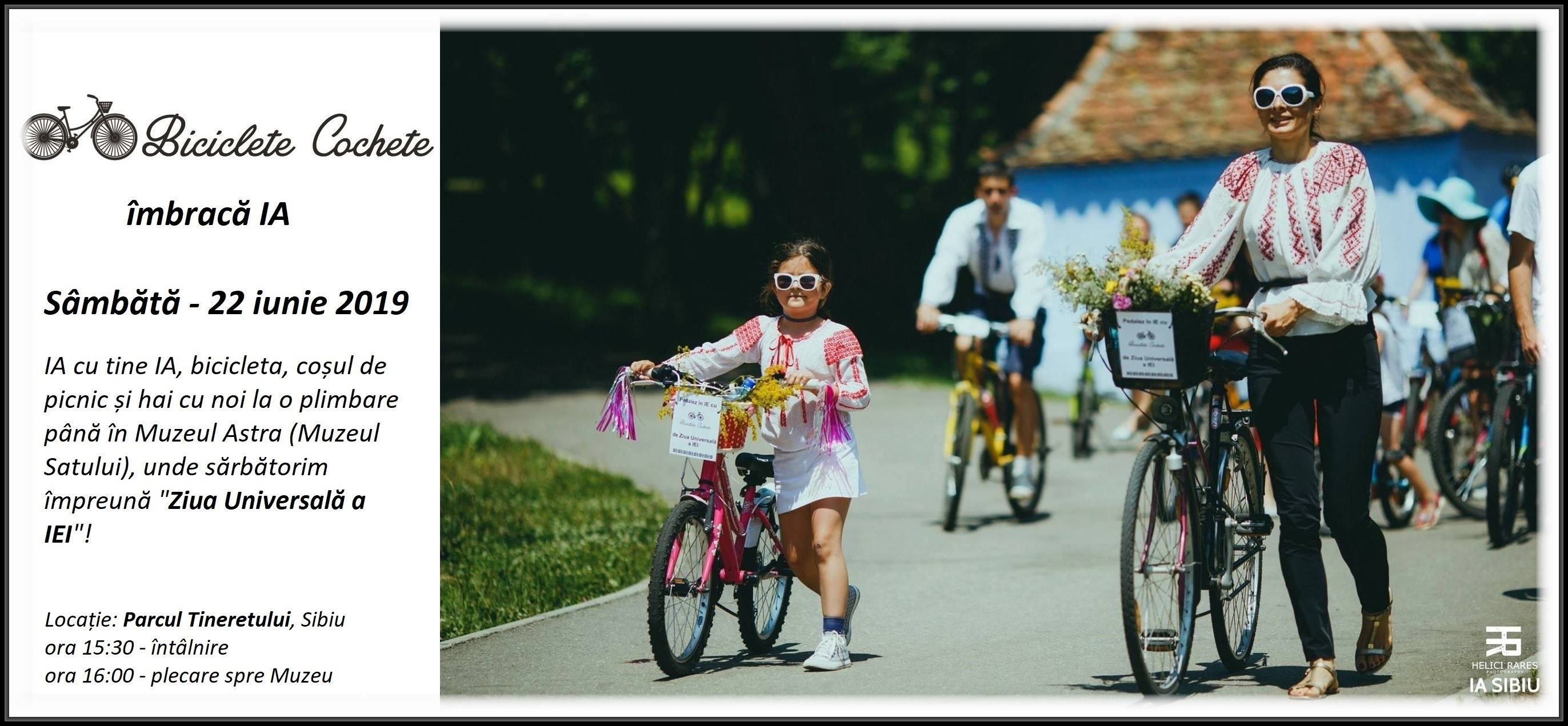 Biciclete Cochete pedaleaza in IE la Ziua IEI Sibiu