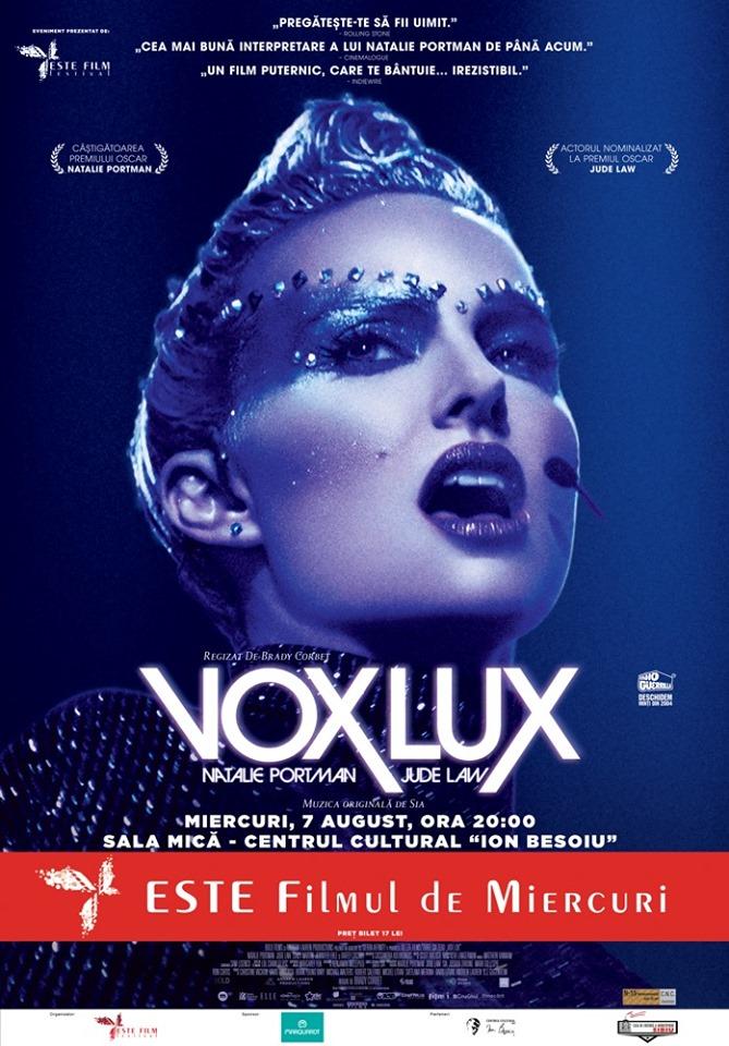 VOX LUX la ESTE Filmul de Miercuri