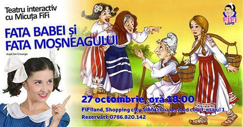 Teatru interactiv cu MicuțaFiFi - Fata babei și fata moșneagului