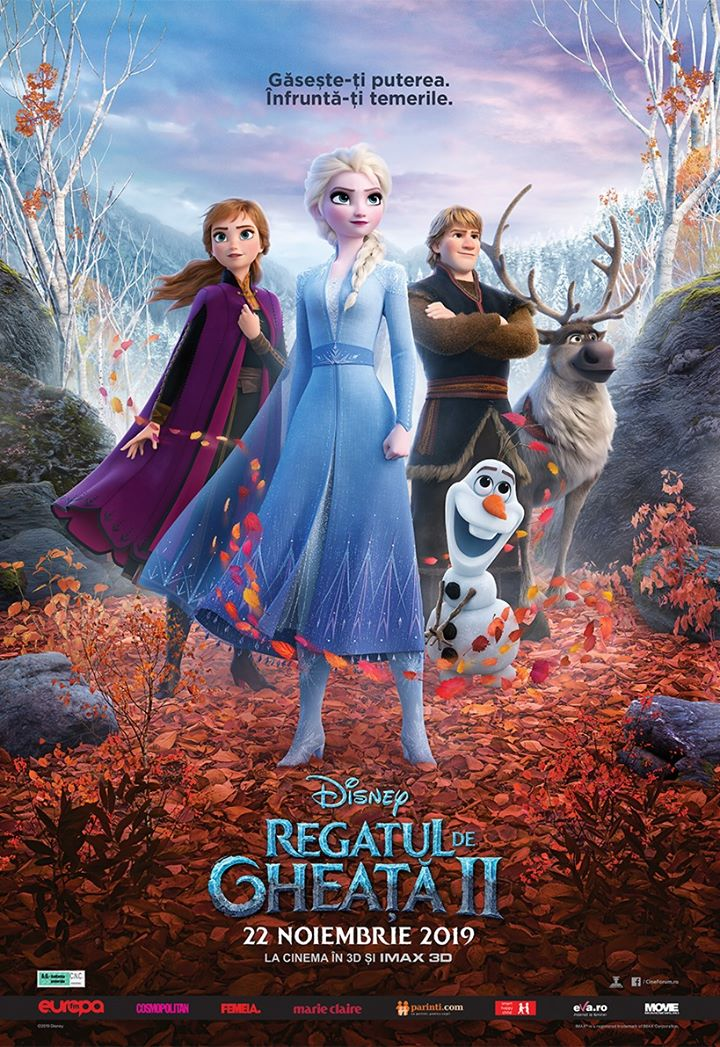 Frozen II  (Regatul de gheață II) - 3D Dublat ; A.G.
